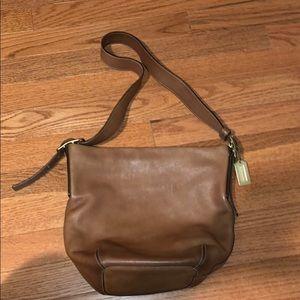 Tan Coach shoulder bag